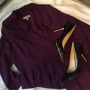 Burberry purple coat dress